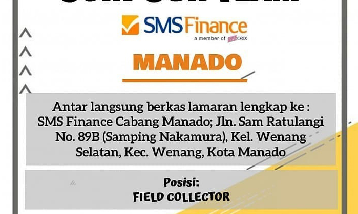 SMA – Field Collector, SMS Finance